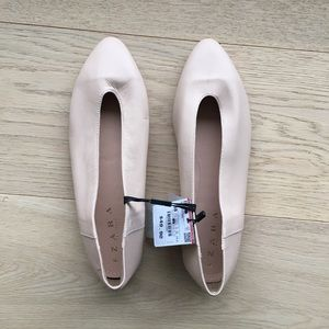 Zara glove leather flats